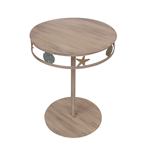 Coastal Living Multi Cottage End Table with Multi Shell Band