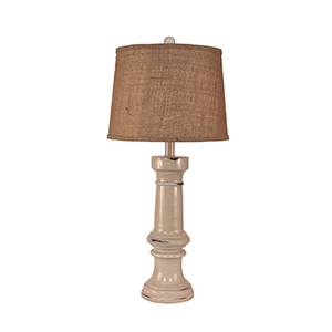 Casual Living Distressed Cottage One-Light Casual Table Lamp