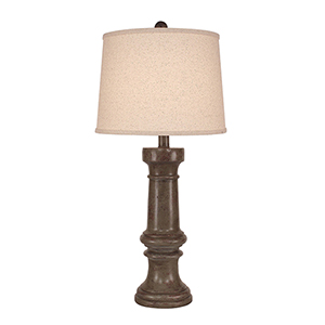 Casual Living Tarnished Pale Gray One-Light Casual Table Lamp