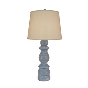 Casual Living Weathered Blue One-Light Table Lamp