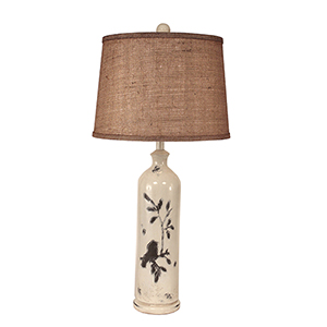 Casual Living Distressed Nude One-Light 29-Inch Table Lamp