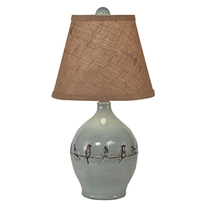 Casual Living Distressed Atlantic Gray One-Light Table Lamp