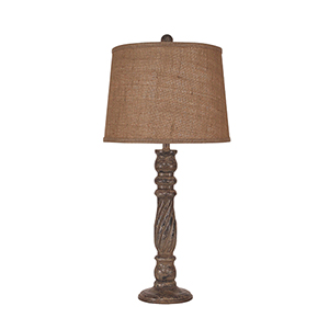 Tarnished Cottage One-Light Candlestick Table Lamp