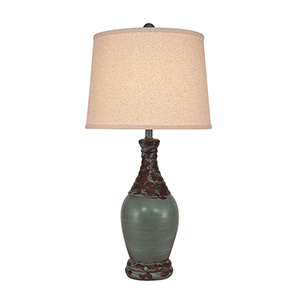 Casual Living Aged Turquoise One-Light Table Lamp