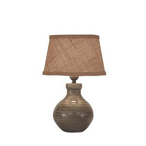 Casual Living Pale Gray Glazed One-Light Table Lamp