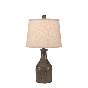 Casual Living Tarnished Pale Gray One-Light Clay Jug Table Lamp