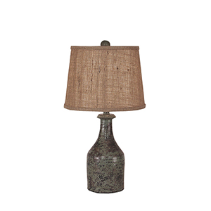Casual Living Atlantic Gray One-Light Clay Jug Table Lamp