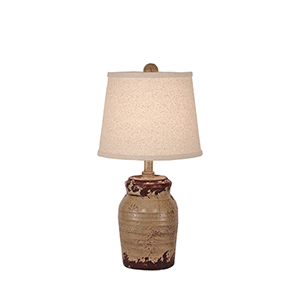 Casual Living Aged Cottage One-Light Honey Jar Table Lamp