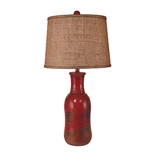 Casual Living Firebrick One-Light Water Jug Shaped Table Lamp