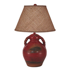 Casual Living Firebrick One-Light 30-Inch Table Lamp