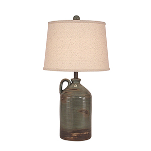 Casual Living Harbor One-Light Pottery Jug Shaped Table Lamp