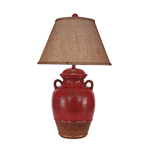 Casual Living Firebrick One-Light 17-Inch Table Lamp
