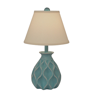 Casual Living Weathered Turquoise Sea One-Light Table Lamp