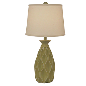 Casual Living Weathered Lime One-Light Table Lamp