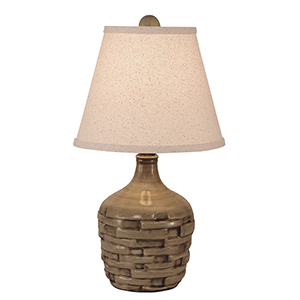 Casual Living Cottage Glaze One-Light Short Thatched Table Lamp