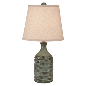 Casual Living Atlantic Gray One-Light Slender Thatched Table Lamp
