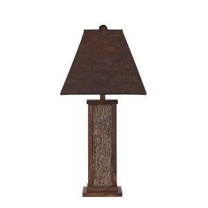 Rustic Living Aspen Poplar Bark Wood Accent One-Light Table Lamp