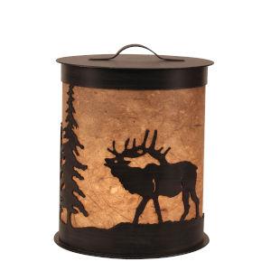 Rustic Living Kodiak Woodchip Stain Elk One-Light Accent Night Light