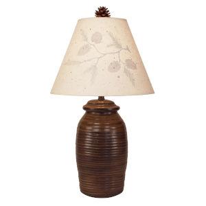 Rustic Living Aspen Ribbed Pot One-Light Table Lamp