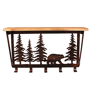 Rustic Living Brown and Black Bear Tree Coat Rack