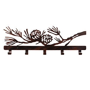 Rustic Living Burnt Sienna Iron Pine Branch Coat Rack