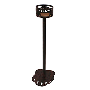 Rustic Living Burnt Sienna Iron Bear Band Drink Holder with Bear Paw Base