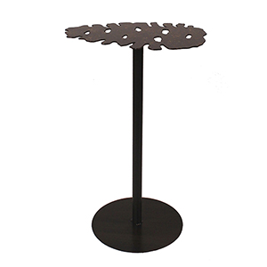 Rustic Living Burnt Umber and Honey Iron Pine Cone Drink Table