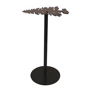 Rustic Living Charred Iron Pine Tree Drink Table