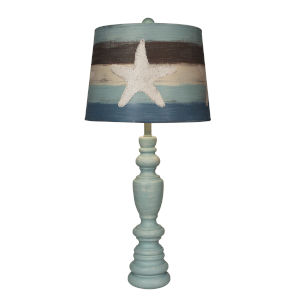 Coastal Living Weathered Atlantic Grey One-Light Table Lamp