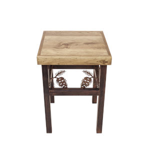 Rustic Living Burnt Sienna Stain End Table