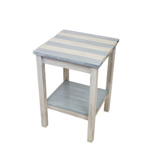 Seaside Villa Stripe  17-Inch End Table