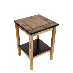 Stain and Black  17-Inch End Table