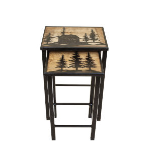 Black and Stain  16-Inch Accent Table