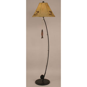 Rustic Living Rust One-Light Floor Lamp