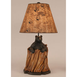 Rustic Living Kodiak with Honey Accent One-Light Table Lamp