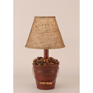 Rustic Living Distressed Red One-Light Table Lamp