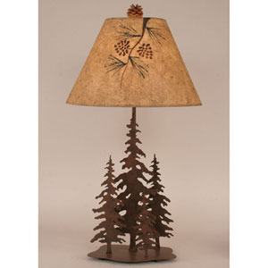Rustic Living Rust One-Light Table Lamp