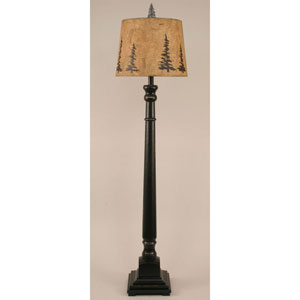 Rustic Living Distressed Black One-Light Floor Lamp