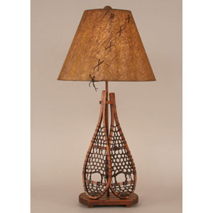 Rustic Living Stained One-Light Table Lamp