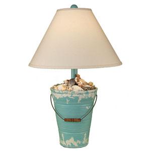 Coastal Living Tattered Turquoise Sea One-Light Table Lamp
