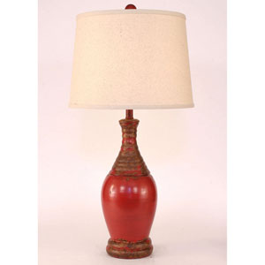 Casual Living Aged Brick Red One-Light Table Lamp