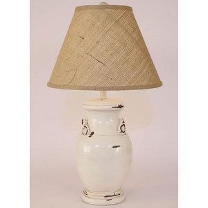 Casual Living Heavy Distressed Light Nude One-Light Table Lamp
