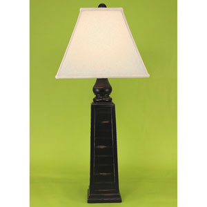 Casual Living Distressed Black One-Light Table Lamp