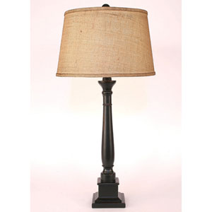 Casual Living Distressed Black One-Light Buffet Lamp