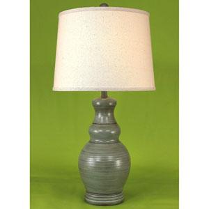 Casual Living High Gloss Atlantic Grey Glaze One-Light Table Lamp