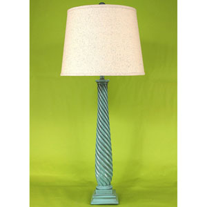 Casual Living High Gloss Turquoise Sea Glaze One-Light Table Lamp