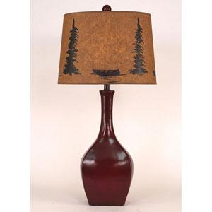 Rustic Living High Gloss Spanish Tile Glaze One-Light Table Lamp