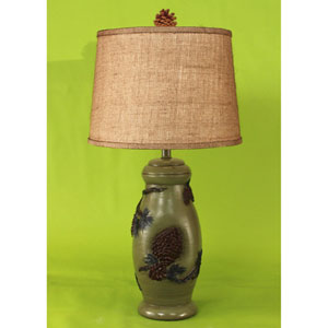 Rustic Living Forest One-Light Table Lamp
