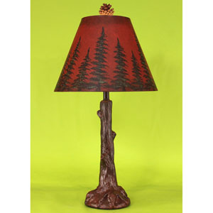 Rustic Living Burnt Red One-Light Table Lamp