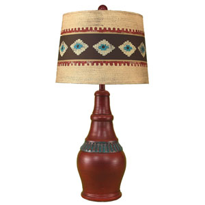 Rustic Living Rio with Jade Accent One-Light Table Lamp